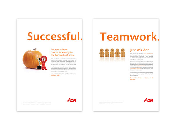 Aon - Magazine advertising